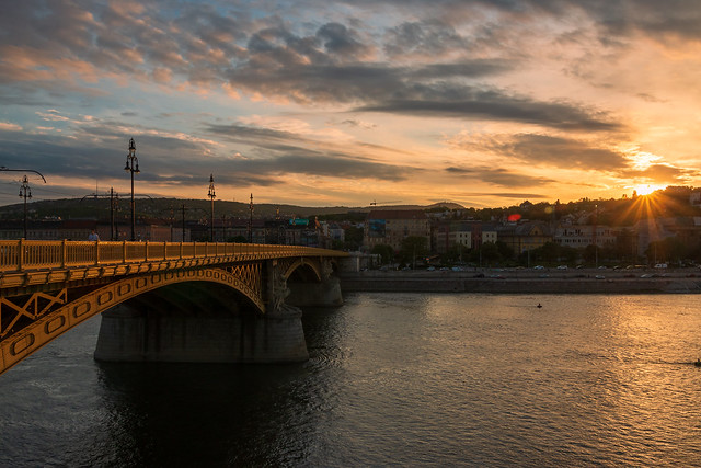 Classic Budapest sunset