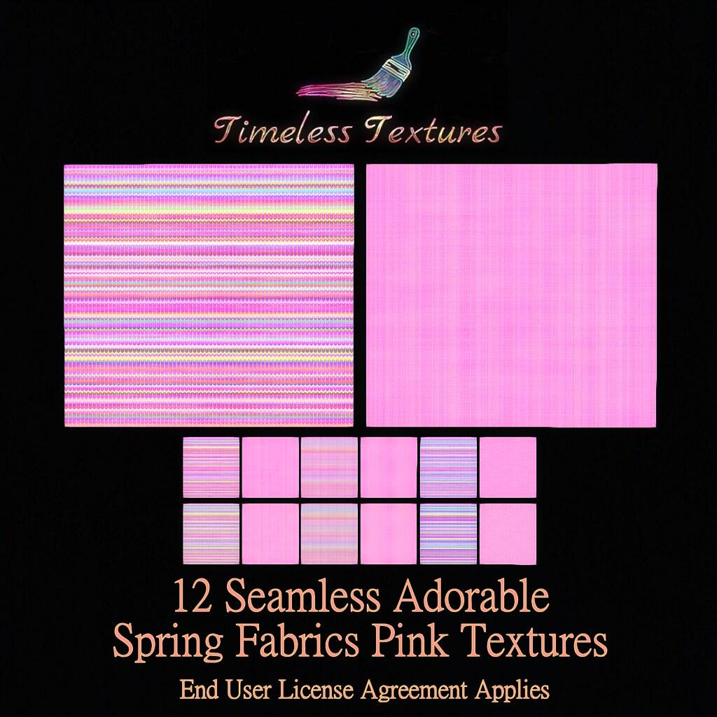 TT 12 Seamless Adorable Spring Fabrics Pink Timeless Textures
