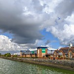 Storm clouds over Preston Docks