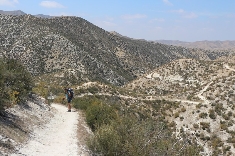 It was hot, so we took a shortcut on that dirt road just south of the trailhead on Soledad Canyon Road