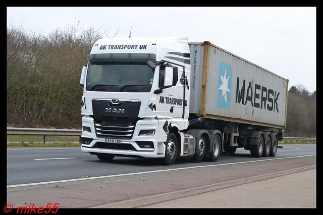 MAN TGX 'A.K. Transport UK' reg EY21 TDO