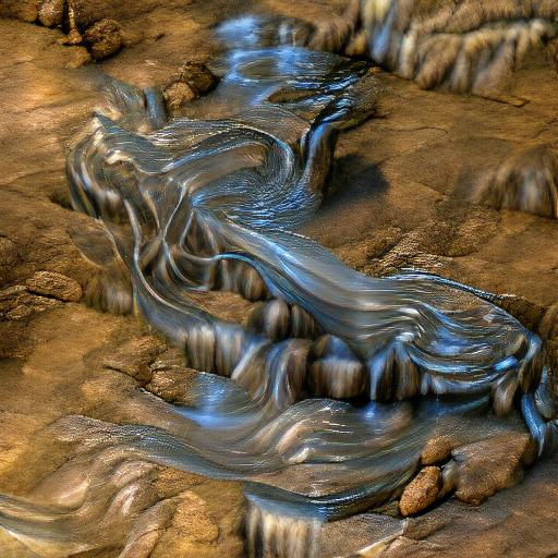 'flowing water' VQGAN+CLIP z-quantize Text-to-Image