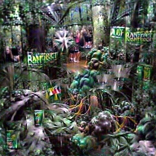 DeepDaze - Rainforest