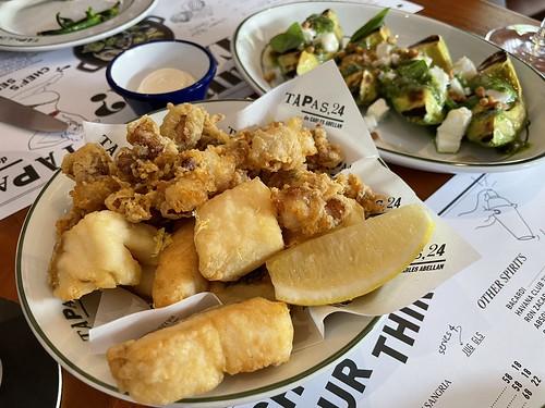 Pescadito Frito and Avocado con Pesto