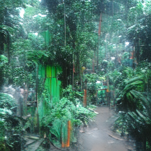 VQGAN-CLIP codebook - Rainforest