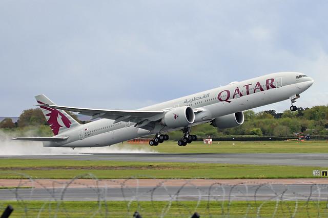 A7-BAT 2 Boeing 777-3DZER Qatar Airways MAN 11MAY21