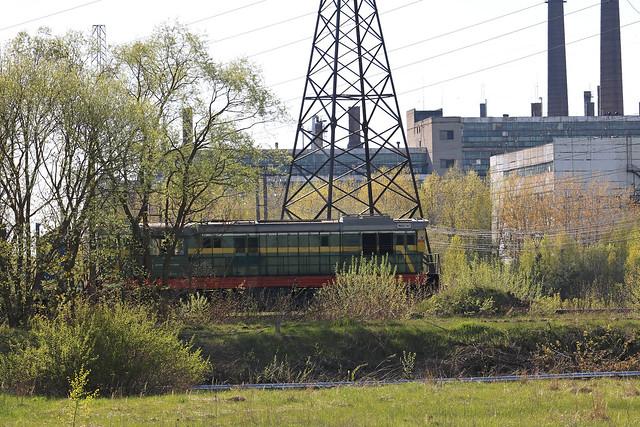 Маневровый тепловоз ЧМЭ3-7107 на станции Заднепровская (Беларусь).