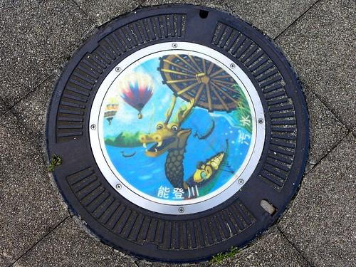 Notogawa Shiga, manhole cover 2 (滋賀県能登川町のマンホール2)