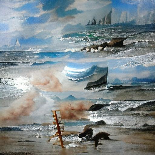 VQGAN-CLIP z+quantize - Seascape Painting