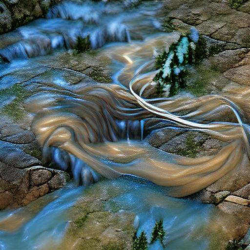VQGAN-CLIP z+quantize - Flowing Water