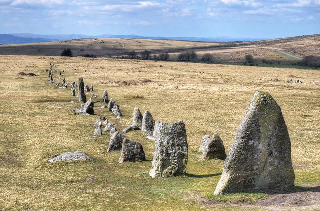 Ancient stone rows on Dartmoor