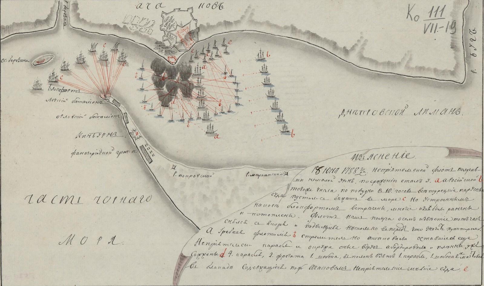 Черное море.18 Юня 1788 года [Неприятельский флот получивший немалый урон