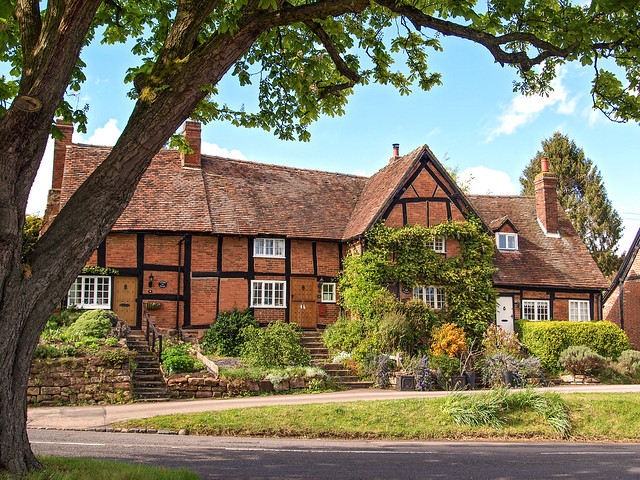The picturesque village of Stoneleigh in the English midlands.