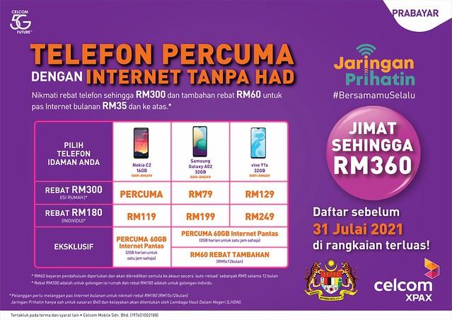 Tawaran Jaringan Prihatin Terhebat Daripada Celcom Dengan Subsidi Sehingga RM360