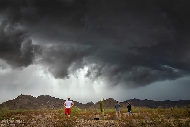 23 September 2019 — Buckeye, Arizona — Storm chasers and storm core