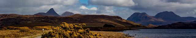 Leaving the peaks behind  -  Achiltibuie road