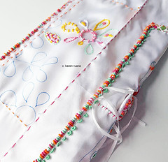 embroidered silk pages