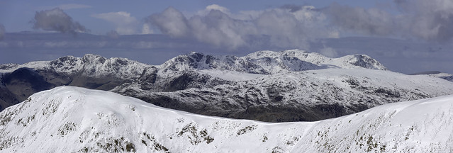 The Central Fells from Hart Crag