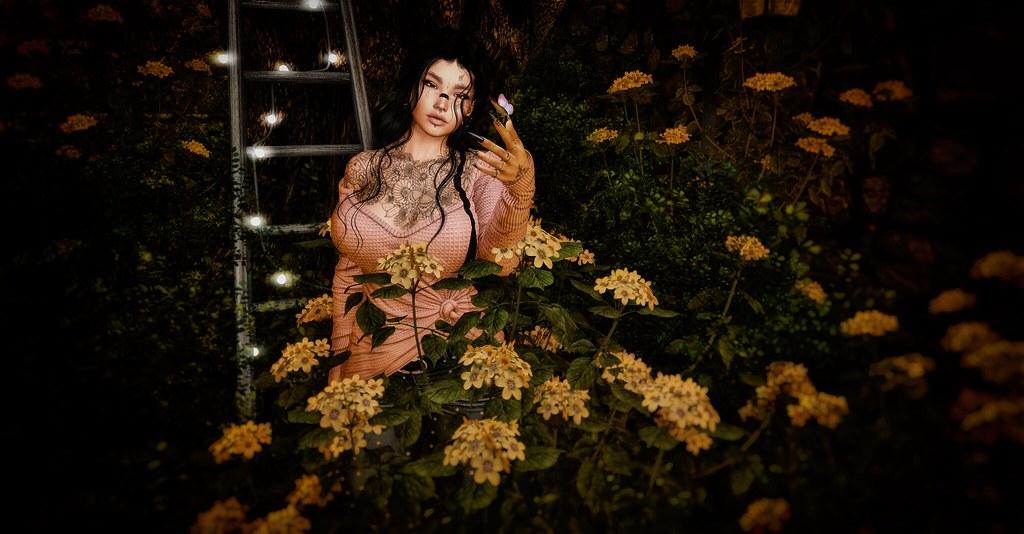 Among flowers ...