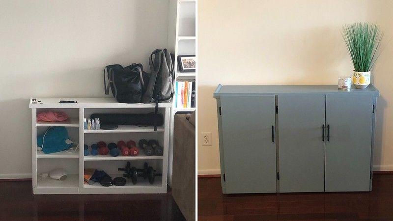 Sideboard before and after