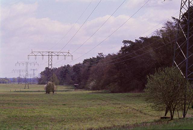 Strommasten in Brandenburg 23.4.2021