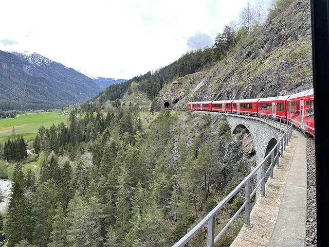 Fahrt über den Viadukt bei Filisur