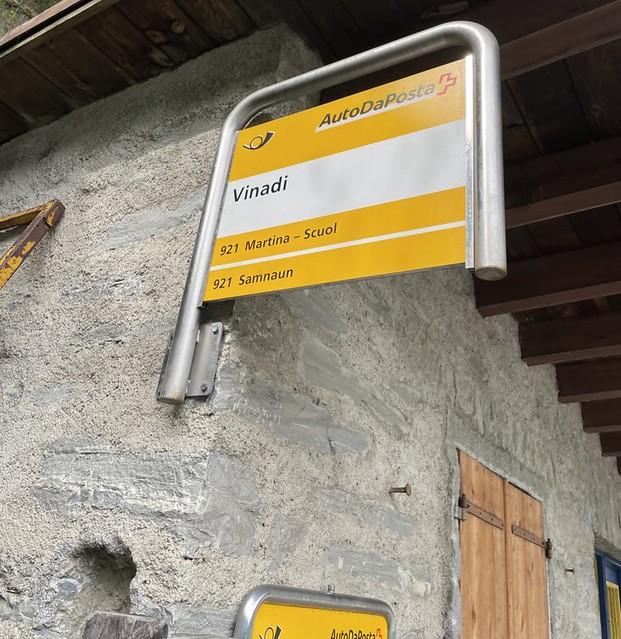 Vinadi ist die östlichste Haltestelle der Schweiz