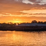 Recent setting Sun at Preston Docks