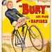 """GAUDY, Georges.  Vélos """"Bury"""" Les plus rapides"""