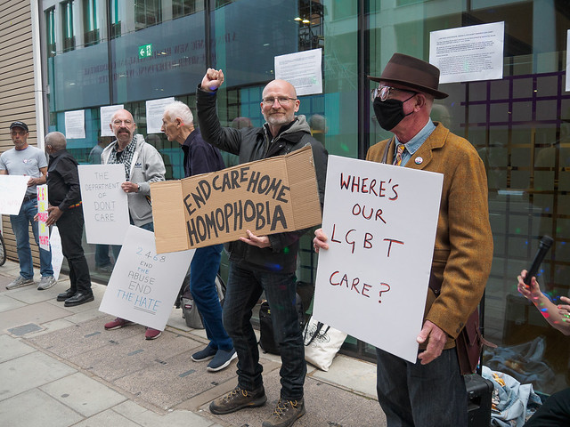 Gay Liberation Front Uk Protest Abuse In Care, London, UK