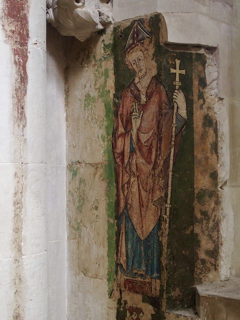 Medieval wall painting of St Alban