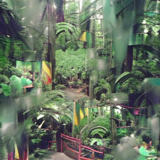 VQGAN-CLIP z+quantize - Rainforest