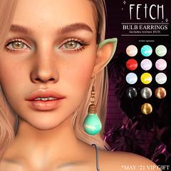 [Fetch] Bulb Earrings @ VIP Gift!