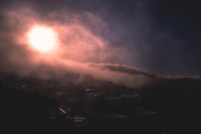Sunset in Fog