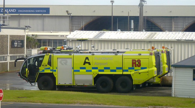 Emergency Vehicle Truck at Auckland Airport, New Zealand