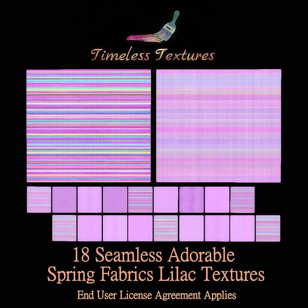 TT 18 Seamless Adorable Spring Fabrics Lilac Timeless Textures