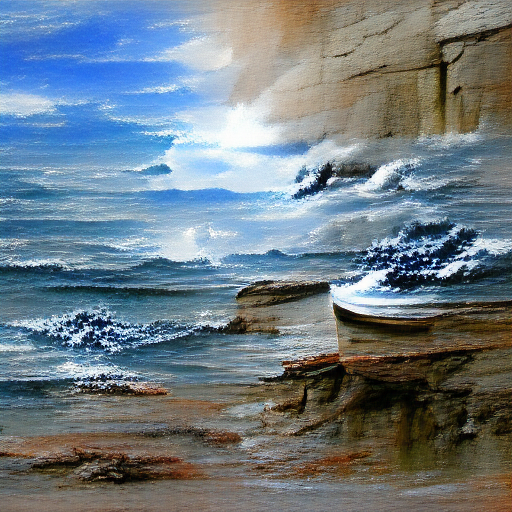 VQGAN-CLIP codebook - Seascape Painting