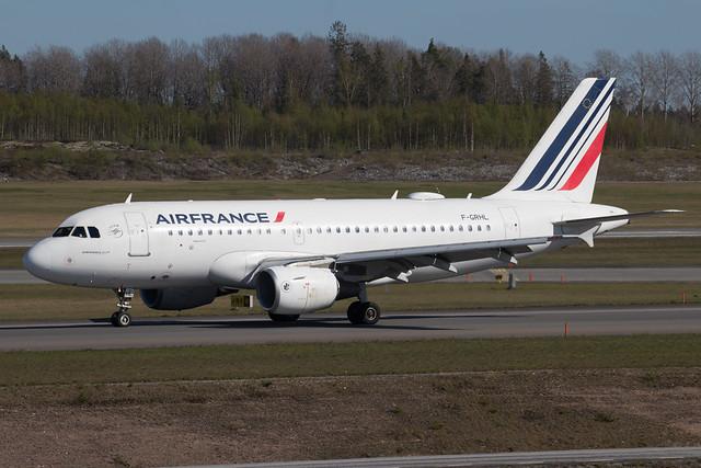 Air France Airbus A319-111 F-GRHL 210512 ARN