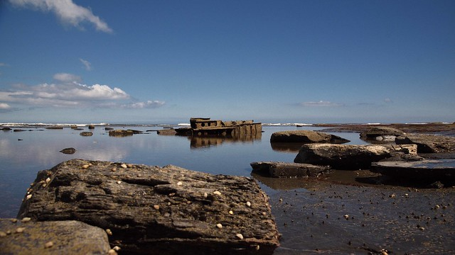 Remains of the SS Rohilla, Saltwick Bay, Whitby