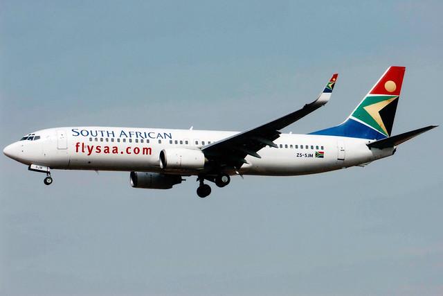 South African Airways | Boeing 737-800 | ZS-SJM | Johannesburg International