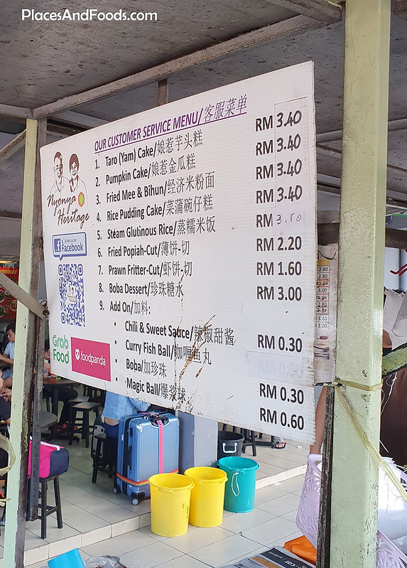 nyonya heritage brickfields menu and price