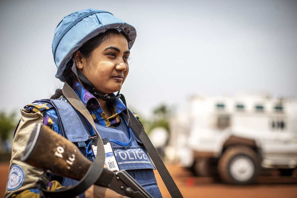 Jakia Sultana (27) from Bangladesh serves as a gate keeper with MINUSMA. (Photo: MINUSMA)