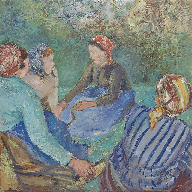 Paysannes au repos (C Pissarro)