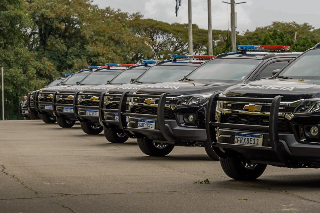 Governador João Doria entrega 105 viaturas para a Polícia Civil do estado de São Paulo, as primeira blindadas da corporaçãoo