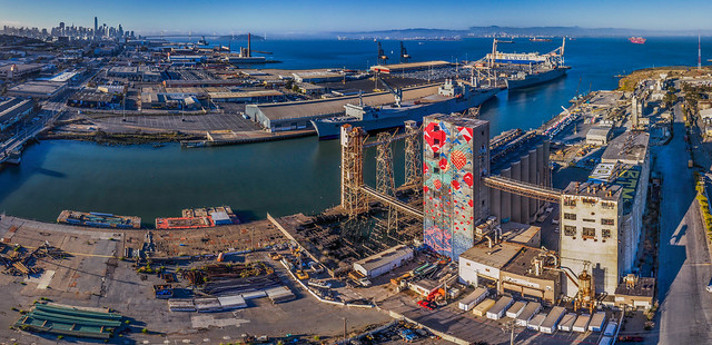 the silos at pier 90