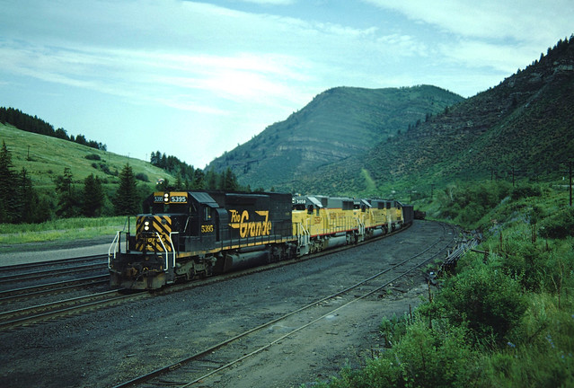 DRGW 5395 #788 Minturn, CO July 5, 1986
