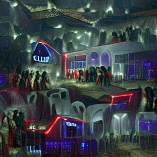 VQGAN-CLIP z+quantize - Night Club