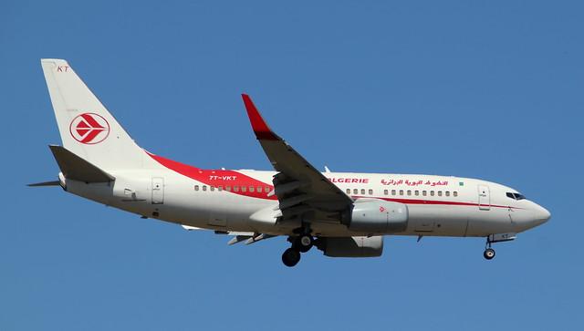 Air Algerie, 7T-VKT,MSN 61341,Boeing 737-7D6C, 26.04.2021, FRA-EDDF, Frankfurt