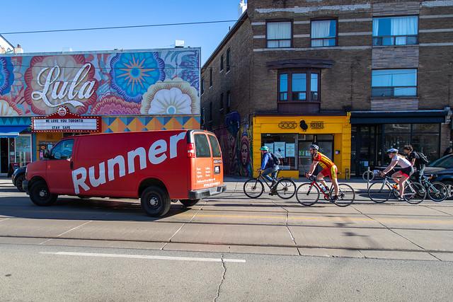 Runner vs. Bikers