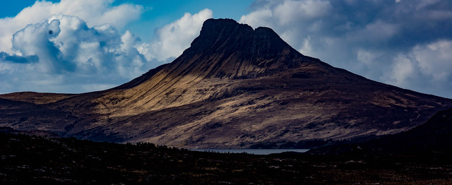 Stac Pollaidh looms  -were we up there?